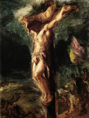 christ-on-the-cross-sketch-eug-ne-delacroix