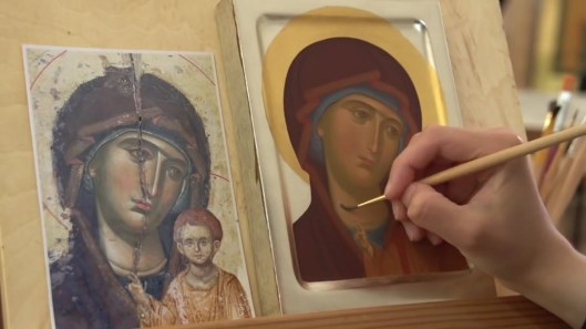 painting an icon